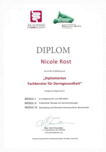 Diplom Nicole Rost Darmberatung